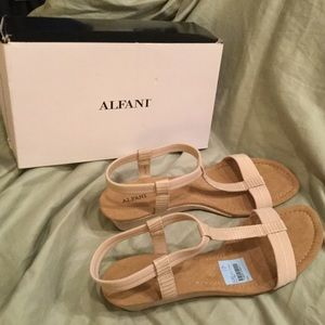 Alfani Cream Voyager Wedge Sandals